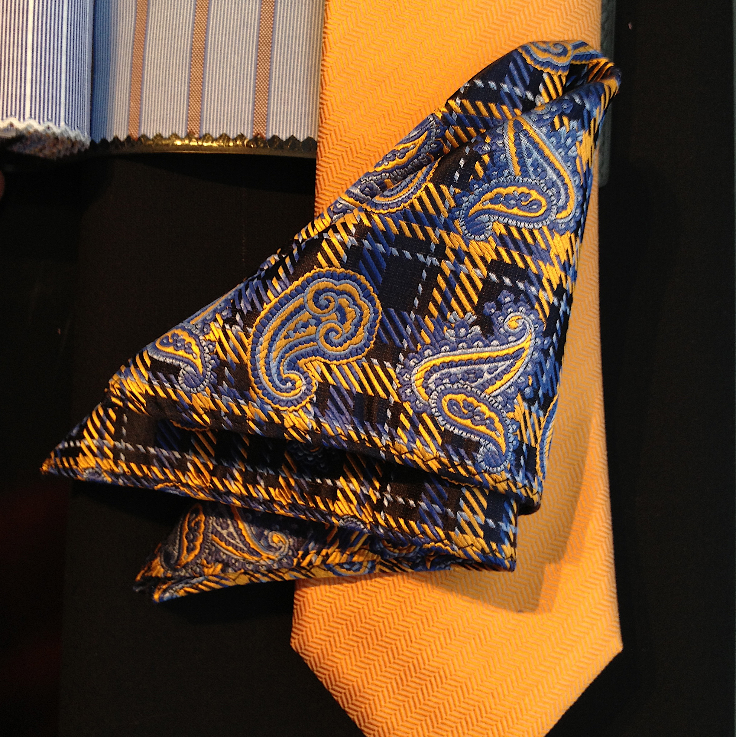 NELSON WADE, custom bespoke silk ties and silk pocket square.